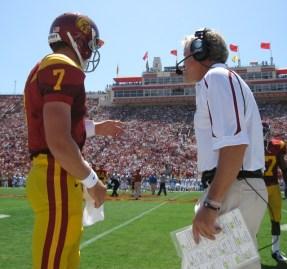 Matt Barkley and Pete Carroll