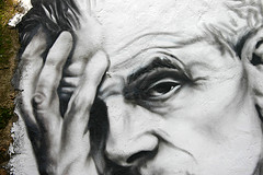 Aldous Huxley painted portrait IMG_7520