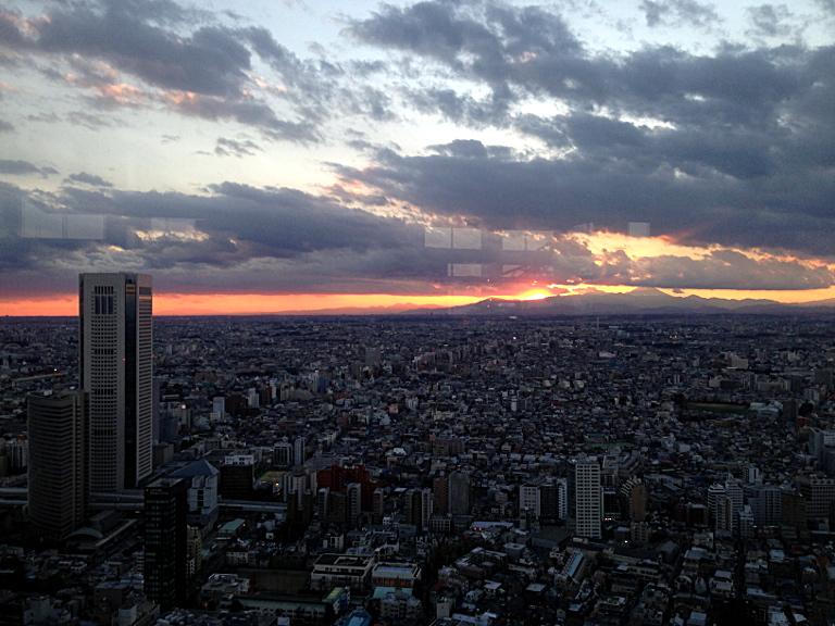 Tokyo Metropolitan Government Building: Sunset