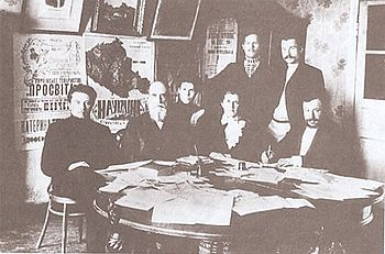 Ridnyi Krai editorial board in Poltava (1907)