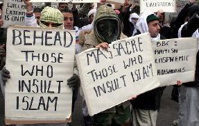 UK Muslims protest cartoons