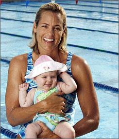 Dara Torres and her daughter