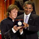 Paul McCartney and Barack Obama