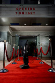 Red carpet, empty theater