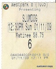 Slumdog Millionaire ticket stub