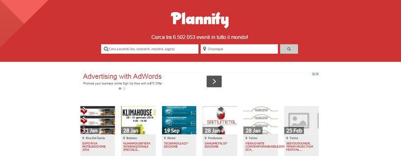 Plannify, l'agenda sociale dedicata agli eventi