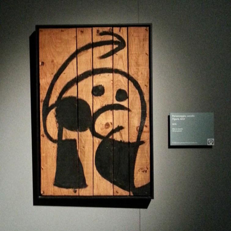 Joan Mirò - Personaggio uccello, 1976 - Olio su tavola