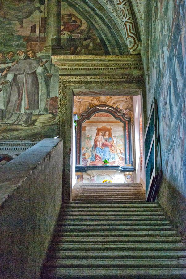 Gli affreschi nel Monastero