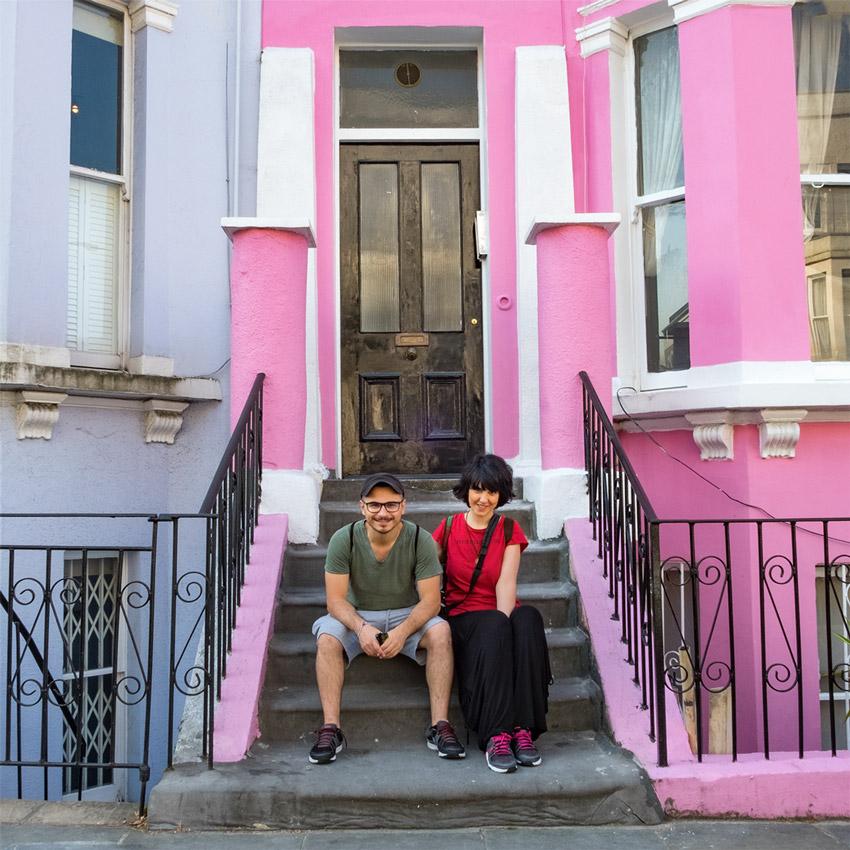 Londra, case di Portobello