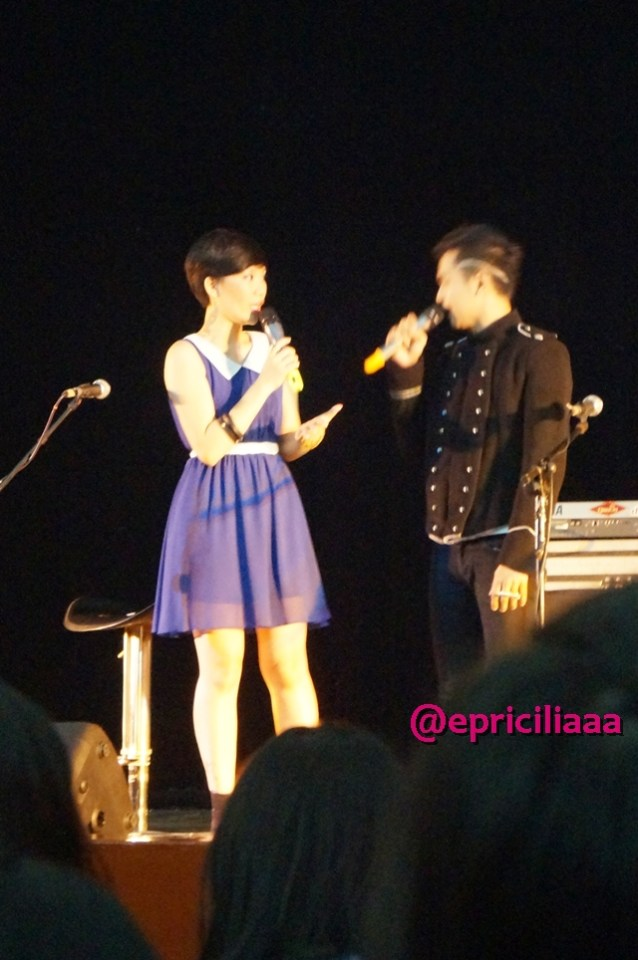 F.Y.I on stage with Lunafly, Jakarta, March 28th 2013 - MC with Rio.
