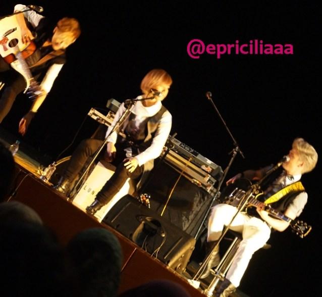 F.Y.I on stage with Lunafly, Jakarta, March 28th 2013 - Lunafly.