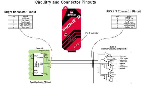 connection diagram of PICKIT 3.5 Programmer