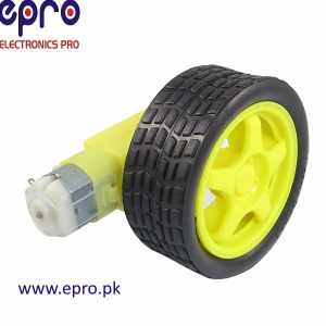 Plastic-Tire-Wheel-with-gear-motor