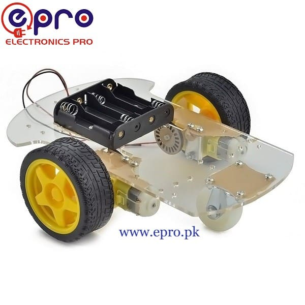 2 Wheel Robot Car Chassis Kit in Pakistan