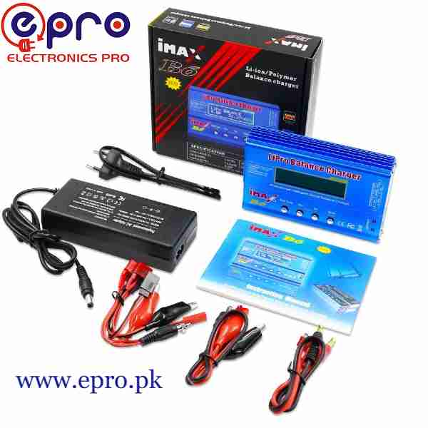 IMAX B6 80W with AC Adapter 15V 6A Power RC Lipo Battery Balance Charger in Pakistan