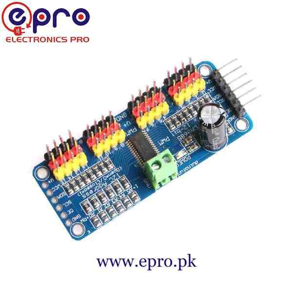 PCA9685 16 Channel Servo Motor Driver in Pakistan