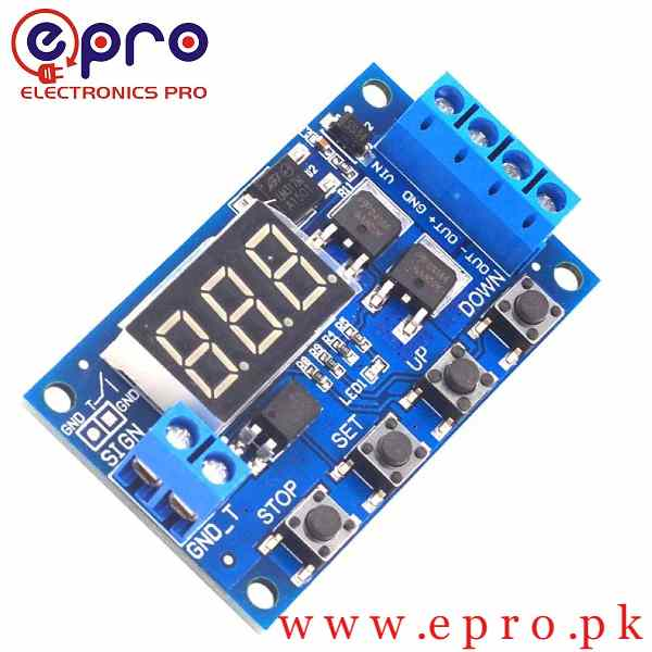 HCW-M135 trigger cycle timing delay switch dual circuit metal oxide tube semiconductor control panel instead of relay module 12 v in Pakistan