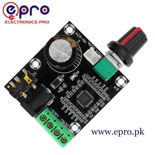 PAM8610 With Dimmer 15W Two Channel Stereo Class D Digital Amplifier Board in Pakistan