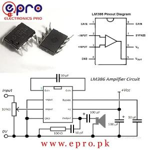 LM386 Audio Power Amplifier IC in Pakistan