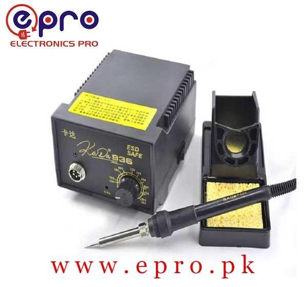 Soldering Iron Station Adjustable Temperature ESD Safe KADA 936 in Pakistan