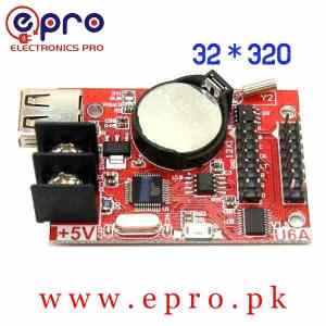 USB Port Single Double Color LED Display Controller Card 32 * 320 Pixels HD U6A in Pakistan