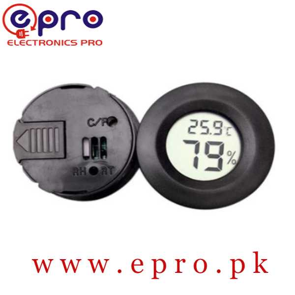 Mini Round Temperature and Humidity Meter in Pakistan