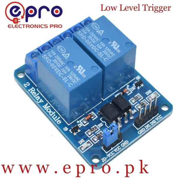 5V 2 Channel Relay Low Level Trigger Module in Pakistan