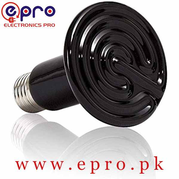 E27 Infrared Ceramic Heat Emitter Lamp Bulb for Reptile Pet Brooder 200W in Pakistan