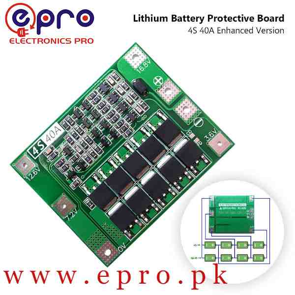 4S 40A Li-ion 18650 BMS PCM Battery Protection Board Balance Lipo Module 14.8V 16.8V in Pakistan