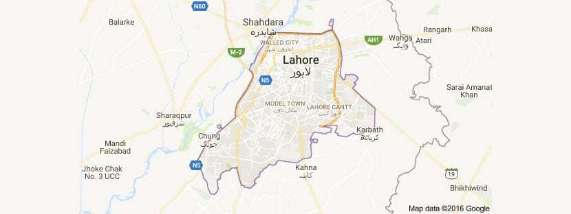 Lahore Maps 2016