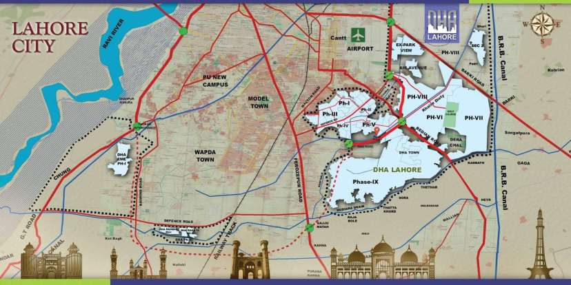 All Phases of DHA Lahore