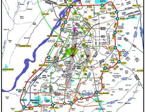 Lahore Master Plan Roads