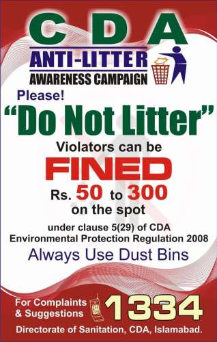 CDA Anti-Litter Awareness Campaign