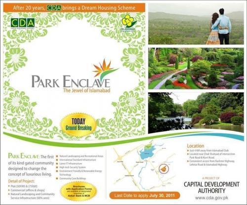 CDA Park Enclave Islamabad