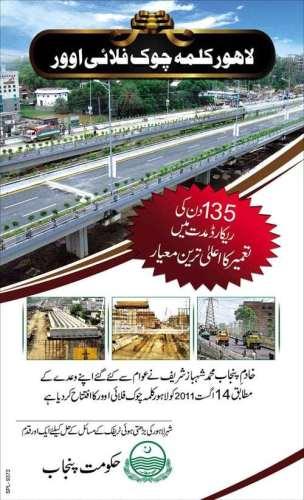 Kalma Chowk Flyover Lahore