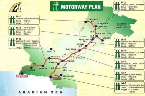 Pakistan Motorway Plan