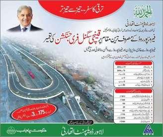 Qainchi Signal Free Junction Lahore