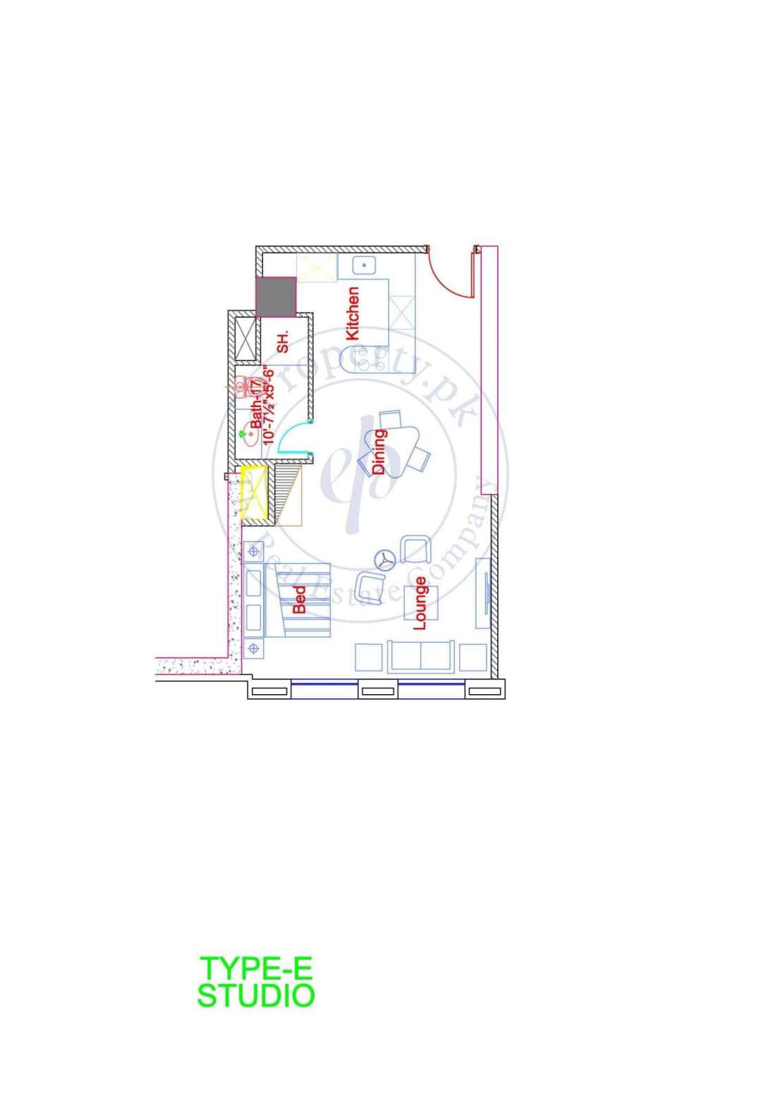 DHA Goldcrest Apartment Type E