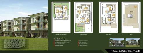 Defence Raya 1 Kanal Golf View Villas Type B Layout