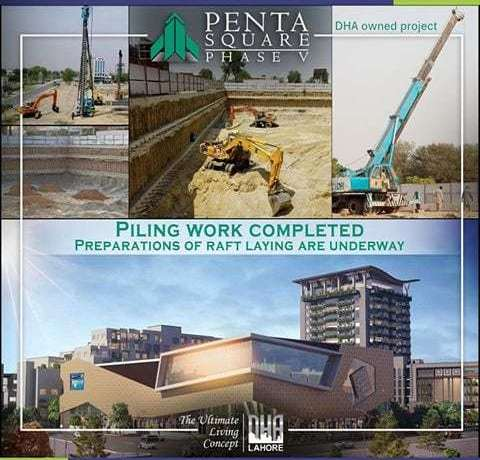 DHA Pentasquare Preparations of Raft Laying are Underway