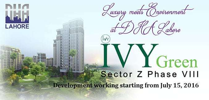 DHA Phase 8 IVY Green Development Work Starting from July 15, 2016