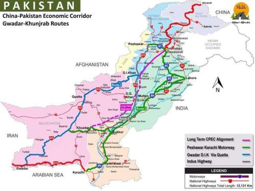 China Pakistan Economic Corridor Gwadar to Khunjerab Routes