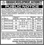 Public Notice for Naval Anchorage Gwadar NOC Application by GDA