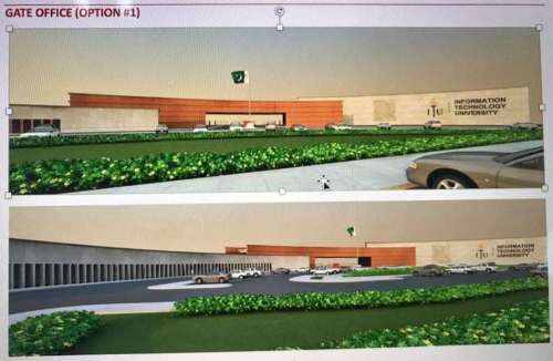 Information Technology University Lahore Gate Office Render