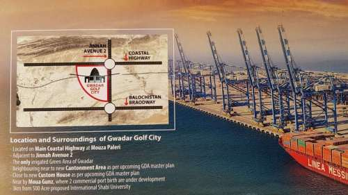 Gwadar Golf City Location Map