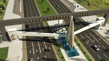 Naval Anchorage Gwadar Main Gate Render Day View