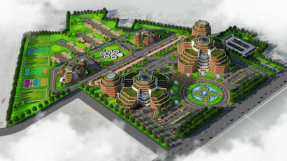 DHA Medical City Phase 8 Lahore Arial View