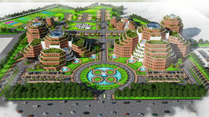 DHA Medical City Phase 8 Lahore Bird Eye View