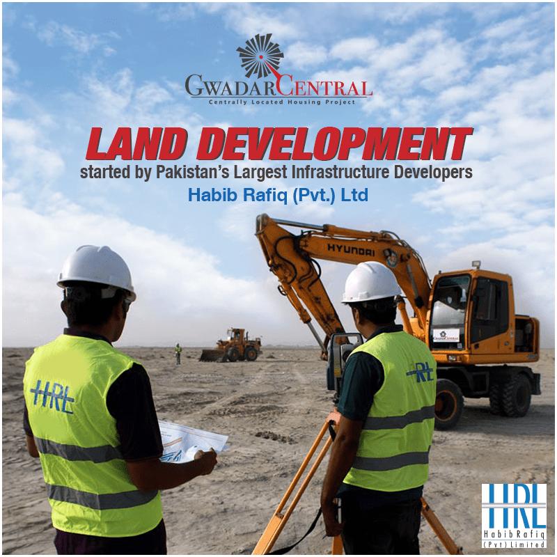 Habib Rafique started development work at Gwadar Central