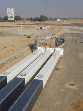 Installation of Solar Lights Main Boulevard DHA Bahawalpur (3)